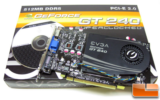 EVGA GeForce GT 240 SuperClock GDDR5 Video Card Retail Bundle