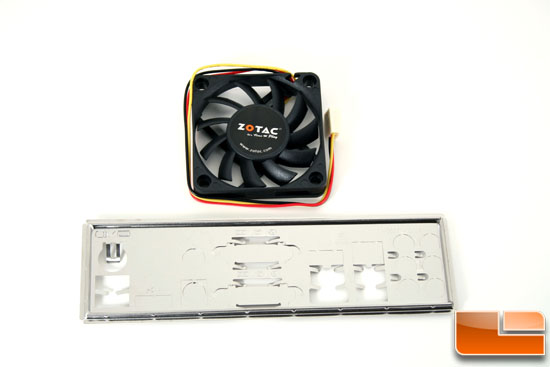 The Zotac IONITX-A-U Atom 330 Motherboard  Fan and Shield