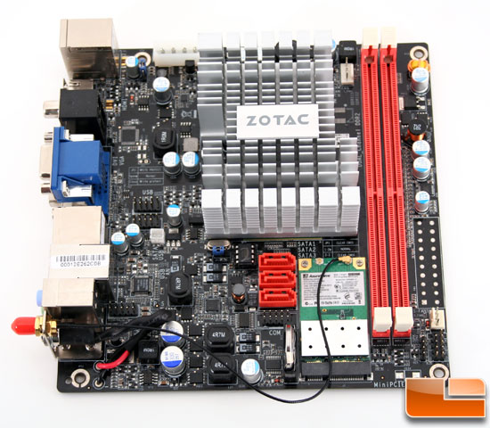 The Zotac IONITX-A-U Atom 330 Motherboard