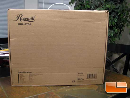 Rosewill RNA-7700 Notebook Cooler Review