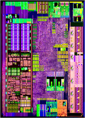 Intel Atom N450 Pineview CPU Die