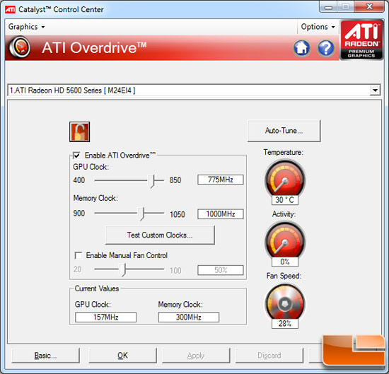 ATI Radeon HD 5670 Video Card Overclocking