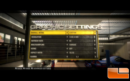 Race Driver: GRiD Settings