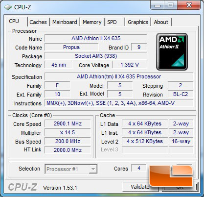 AMD Athlon II X4 635 2.9GHz Socket AM3 95W Quad-Core Processor