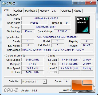 AMD Athlon II X4 635 CPUz Auto settings overclock