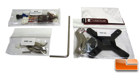 Noctua NH-D14 mounting parts