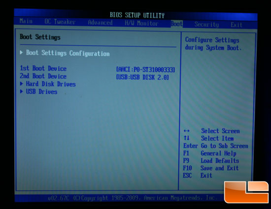 ASRock A330ION BIOS Boot Options