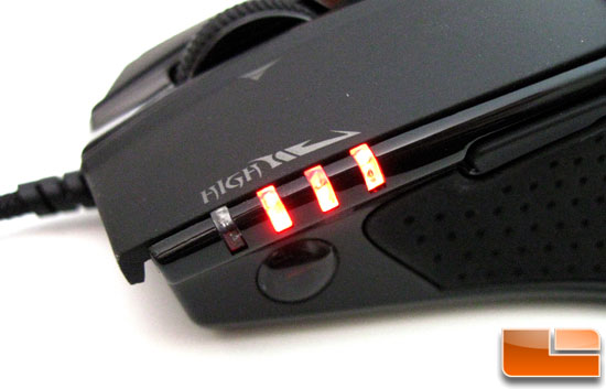 Gigabyte GHOST M8000X Gaming Mouse DPI Indicator LEDs