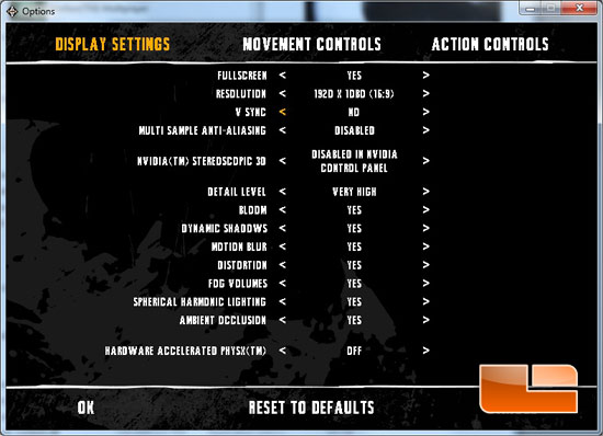 Batman Arkham Asylum system settings