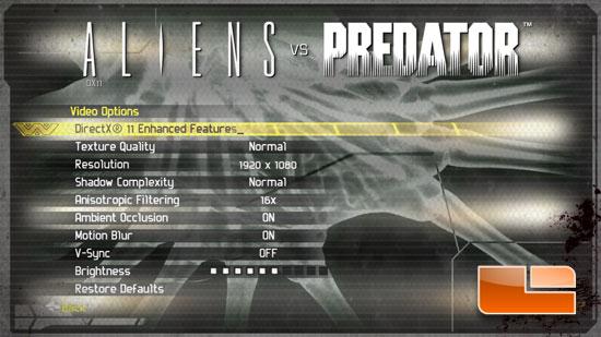 Aliens vs. Predator DirectX 11 Test y Analisis Avp_norm_settings