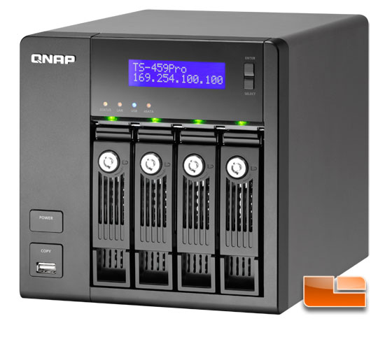 QNAP TS-459 Pro Turbo NAS with Intel Atom D510 Review