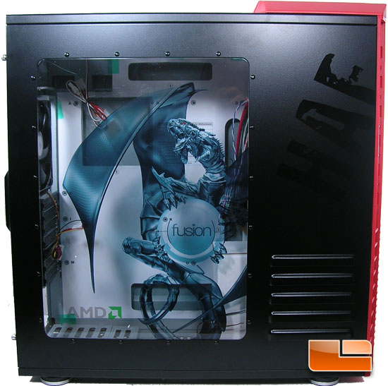 Cooler Master HAF932 AMD Edition Dragon Side Panel
