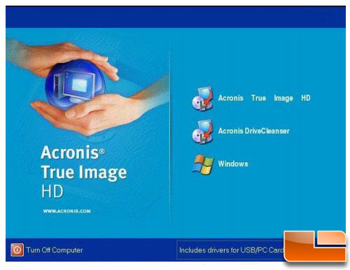 Kingston v series 30GB Acronis Screen