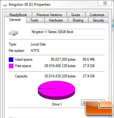 Drive Properties in Windows