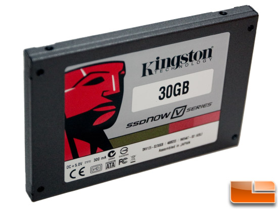 Kingston v series 30GB Drive top angle shot