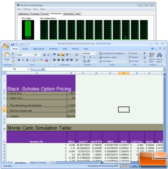 Microsoft Excel 2007 Testing