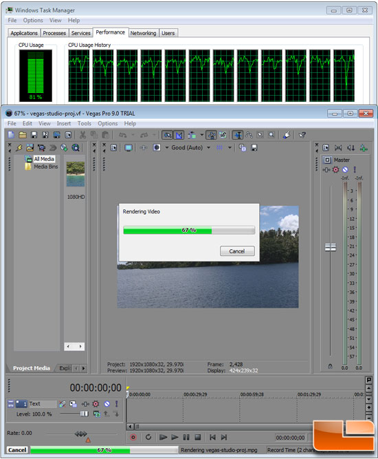 Sony Vegas Benchmarking