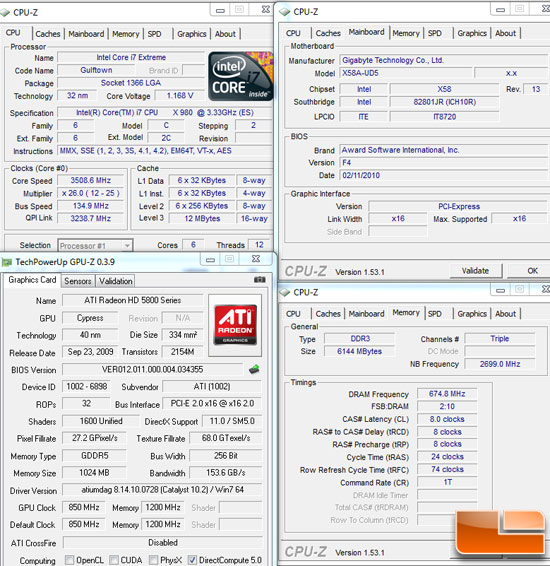 AMD 890GX Test Settings