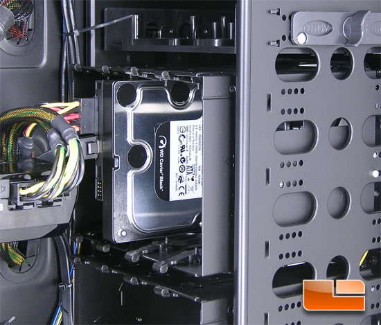 NZXT Tempest EVO installed hard drive