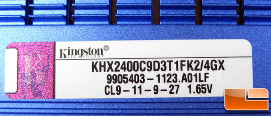 Kingston HyperX KHX2400C9D3T1FK2/4GX