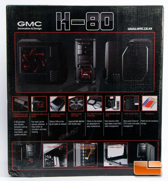 GMC H-80 Case Box Back