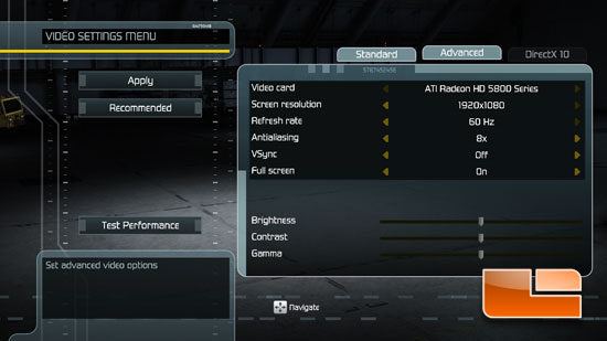 Tom Clancy's H.A.W.X System Settings