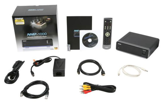 QNAP NMP-1000 Network Media Player Retail Bundle
