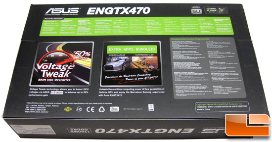 ASUS GeForce ENGTX470 Video Card Retail Box Back