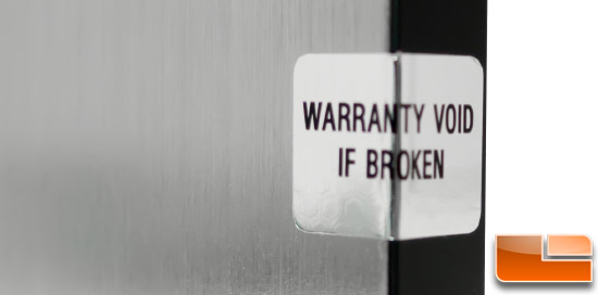 Zephyr WARRANTY STICKER
