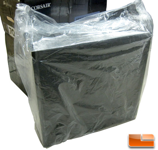 Corsair Obsidian 700D wrapped in plastic