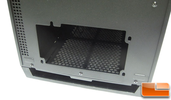 Corsair Obsidian 700D PSU mounting area