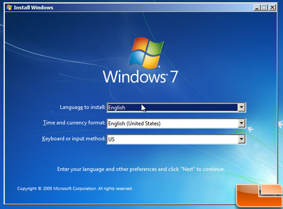Windows 7 Language Setup