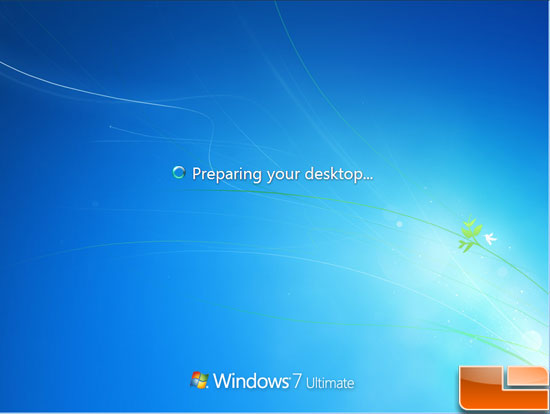 Windows 7 Preparing Desktop