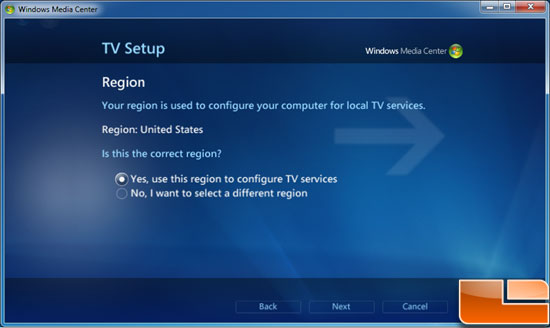 Windows 7 Media Center Live TV