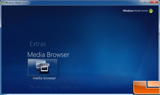 Windows 7 Media Center Media Browser Plug-in