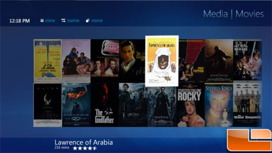 Windows 7 Media Browser Movie Library