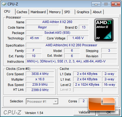AMD Athlon II X2 260 Automatic Settings Overclock