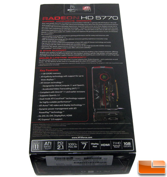 XFX Radeon HD 5770 Retail Box Reverse