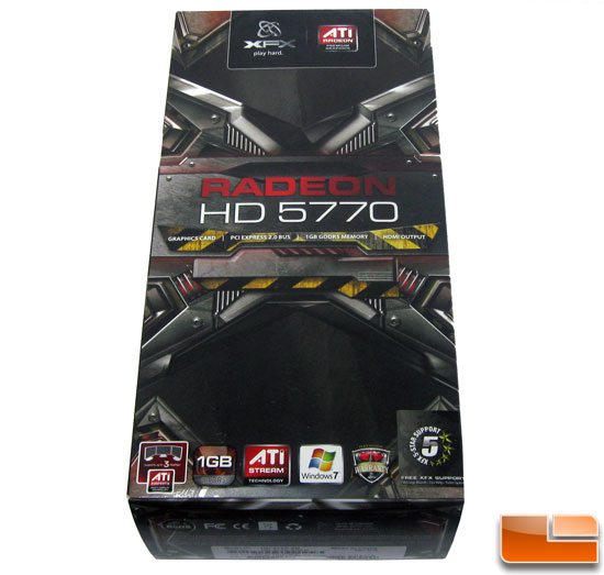 XFX Radeon HD 5770 Retail Box Front