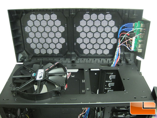 Cooler Master HAF X under the top bezel