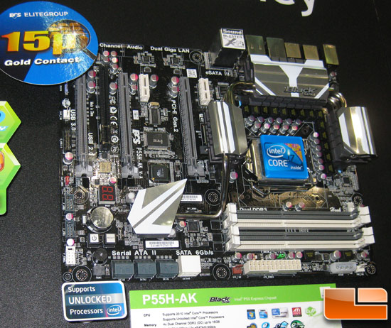 ECS GeForce P55H-AK Motherboard