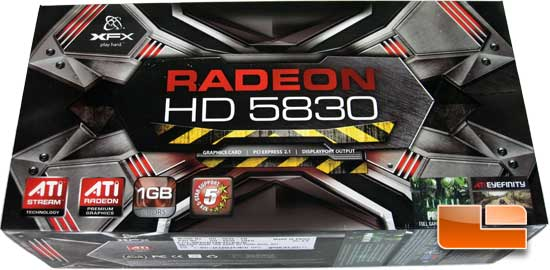 XFX Radeon HD 5830 Retail Packaging