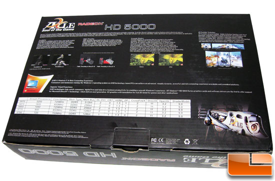 Back of The AXLE Radeon HD 5670 1GB Retail Box