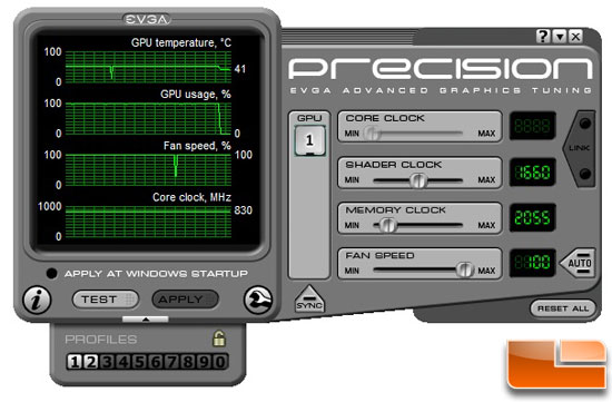 EVGA's Precision graphics tuning tool