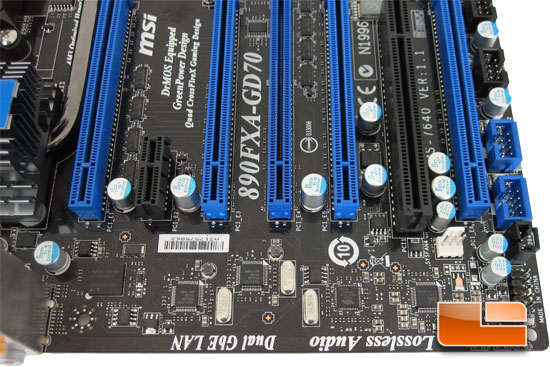 MSI 890FXA-GD70 Motherboard Layout