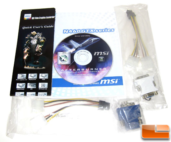 MSI N460GTX Cyclone 1GB GDDR5 OC Video Card Retail Bundle