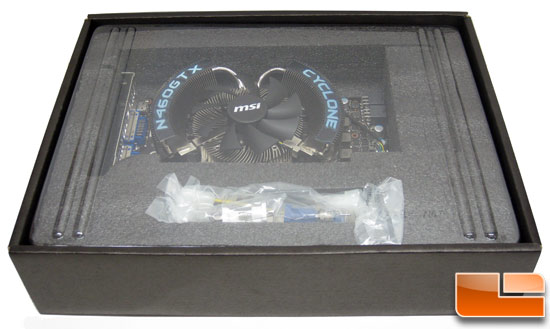 MSI N460GTX Cyclone 1GB GDDR5 OC Video Card Retail Box Inside