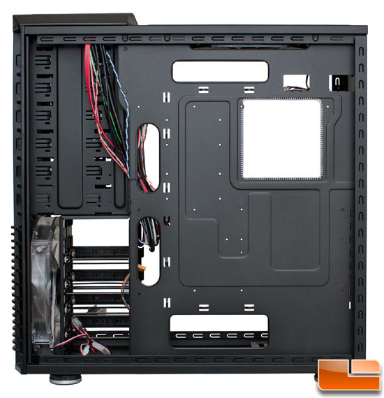 Right Side View of the Interior of the Cooler Master HAF 932 Black Edition