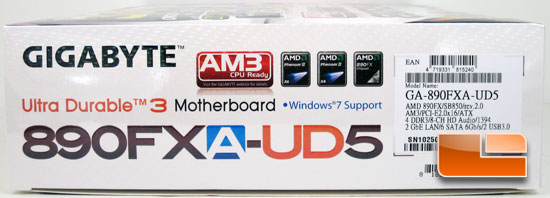 GIGABYTE 890FXA-UD5 Box and Bundle