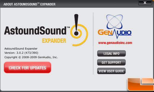 Astoundsound Audio Expander 3.0 About